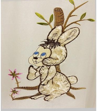 پرده  طرح خرگوش زمینه دونر کد K2 -303