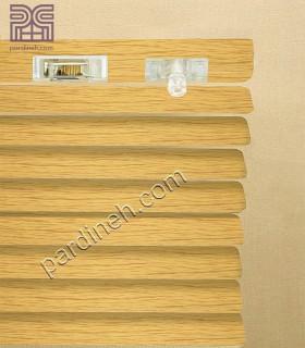 کرکره فلزی 25 میلیمتری طرح چوب کد P-357
