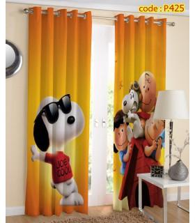 پرده پانچ چاپی هازان طرح سگ کارتونی کد k1-310