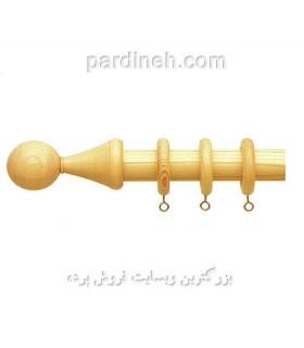 چوب پرده چوبی رنگ عسلی کد S4-10