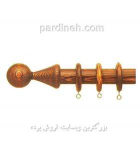 چوب پرده چوبی رنگ فندقی کد S4-14