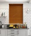 پرده کرکره چوبی رنگ قهوه ای سنتی کد Z1-132