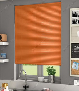 پرده کرکره فلزی 25 میلیمتری رنگ نارنجی پرتقالی کد Z1-136