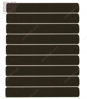 پرده کرکره فلزی آلومینیومی 25 میلیمتری راه راه رنگ مشکی کد Z1-140