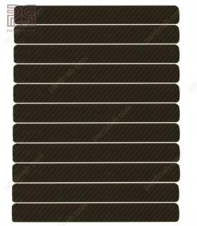 پرده کرکره فلزی آلومینیومی 16 میلیمتری راه راه رنگ مشکی کد Z1-141