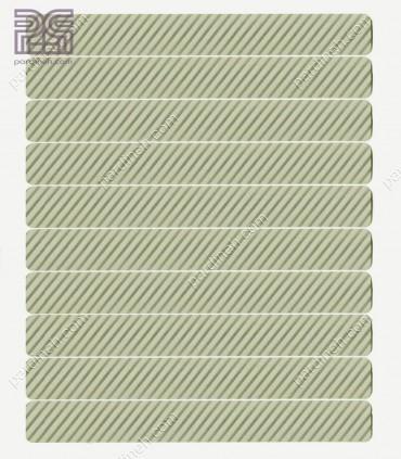پرده کرکره فلزی آلومینیومی 16 میلیمتری راه راه رنگ نقره ای کد Z1-142