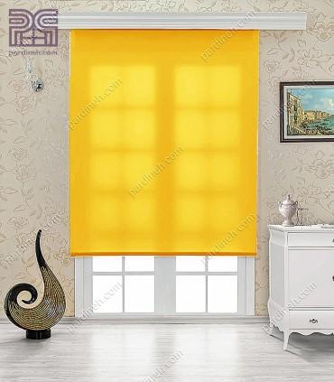 پرده شید ساده رنگ زرد خردلی کد NT650