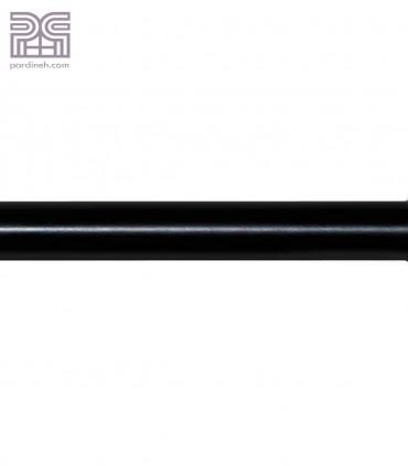 چوب پرده آلومینیومی تمام گرد 28 میلیمتری رنگ مشکی کد S4-30