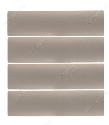 پرده کرکره فلزی 50 میلیمتری رنگ بژ