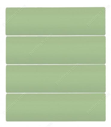 پرده کرکره فلزی 50 میلیمتری رنگ سبز مغز پسته ای