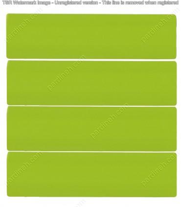 پرده کرکره فلزی 50 میلیمتری رنگ سبز روشن