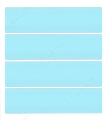 پرده کرکره فلزی 50 میلیمتری رنگ آبی روشن