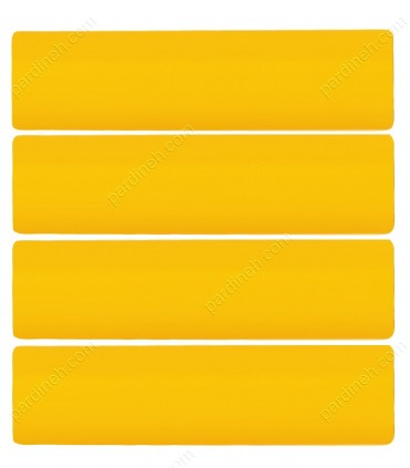 پرده کرکره فلزی 50 میلیمتری رنگ زرد خردلی