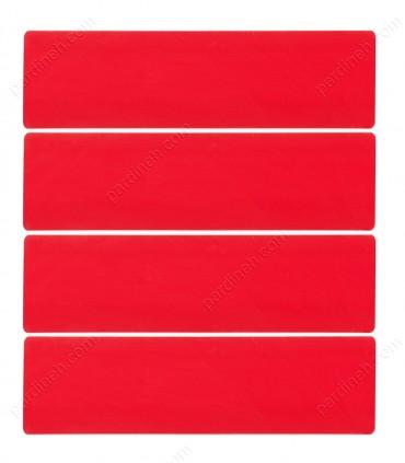 پرده کرکره فلزی 50 میلیمتری رنگ قرمز