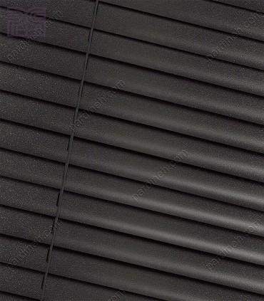 پرده کرکره فلزی 50 میلیمتری رنگ خاکستری تیره اکریلیک