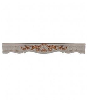 قاب پرده چوبی و پلیمری طرح صدف رنگ کرم ترک کد M1-003